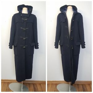 Burberry hooded duffel coat